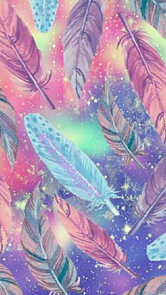 Falling feathers galaxy iPhone/Android wallpaper I created for the app CocoPPa! 2016hisonlygirl❤™