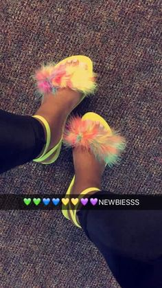 Where can I find these😍🙌🏽 #furry #sandals #furrysandals #rainbow #neon #summer Furry Sandals, Shoes Sandals, Shoe Boots, Cute Sandals, Slide Sandals, Flat Sandals, Cute Shoes, Shoes Sneakers, Sneaker Heels