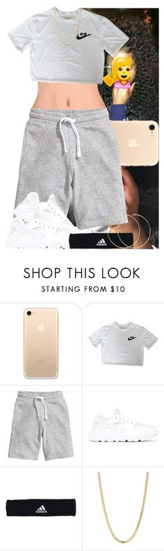 """Untitled #1085"" by msixo ❤ liked on Polyvore featuring H&M, NIKE, adidas, Bianca Pratt and Allison Bryan"