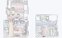 Open-plan apartment floorplan