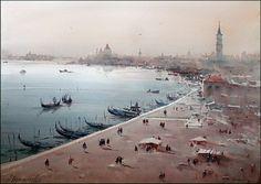Dusan Djukaric, Beautiful Venice, Watercolour, 74x54cm