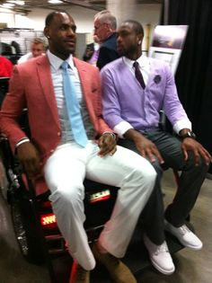 7c2a0a6bd21 Lebron James and Dwayne Wade post game