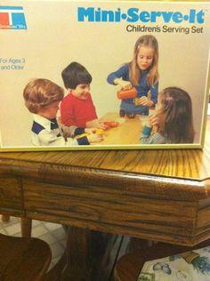 Mini Serve It Children's Serving Set Tupperware Toys Pitcher bowls w/lids  cups $24.99