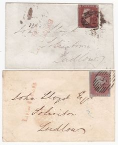 * 1844/9 2 DIFF WAFER SEALS ON COVERS RED LITTLE CHELSEA LONDON PMKS TO LUDLOW   eBay