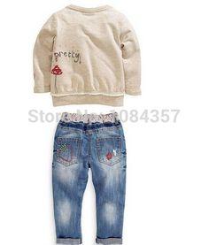 / Dt0194 muito moda infantil primavera e outono para meninas dos desenhos animados camisola de manga comprida + calças define crianças costume em Conjuntos de Mamãe e Bebê no AliExpress.com | Alibaba Group