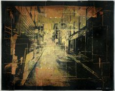 Alley, San Francisco /  Mixed media with photo transfer