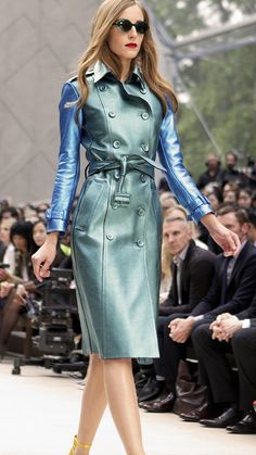 Bold metallics and Splash Sunglasses on the Burberry runway