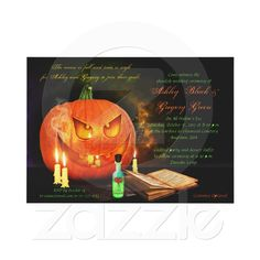 Jack O'Lantern Halloween Wedding Invitation | Zazzle.co.uk