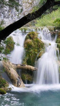 beautiful, waterfall, Nature