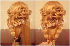 How To DIY Pretty Rose Braids Hairstyle 5