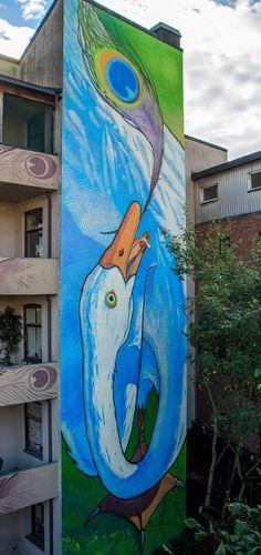 "Mural ""Envy 2"" for UGANGprosjektet in Drammen, Norway"
