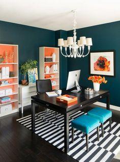 Home furnishings ideas orange accents obembe walls striped carpet