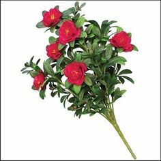 Outdoor Artificial Red Azalea Bush >>> Find out more about the great product at the image link.