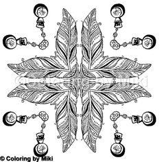 Tribal Feathers Coloring Page 362 #coloring #coloringforadults #pattern #模様 #design #ぬりえ #大人の塗り絵 #おとなのぬりえ #art #アート #illustration #coloriage #コロリアージュ #coloringpages #zentangle #ゼンタングル #mandala #mandalas #mandalaart #mandalatattoo #マンダラ #tribal #feathers #羽根 #曼荼羅