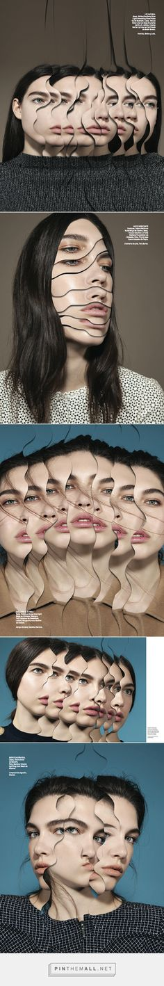 "Photographed by Anairam in colaboration with Matthieu Bourel, ""Changes"", L'Officiel Mexico Matthieu Bourel, Level 3, Distortion, Makeup Art, Collages, Collaboration, Fashion Photography, Neutral, Mexico"