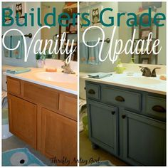 Bathroom Vanity Paint Ideas diy custom gray painted bathroom vanity from a builder grade
