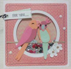 Gemaakt door Joke # Verjaardagskaart voor Joelle, met de vogel-mal van #Eline van Marianne Design Marianne Design Cards, Diy Cards, Sweet 16, Making Ideas, Stampin Up, Card Making, Anniversary, Paper Crafts, Kawaii