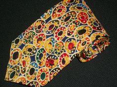 Vintage Perry Ellis Tie Portfolio 100 Silk by TheTieParadise