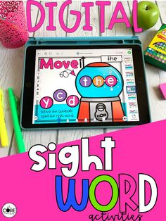 These digital sight word activities are perfect for sight word practice in the classroom or at home. This resource contains one set of 16 interactive sight word activities for each of the first 100 Fry words.