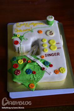 Торт швейная машинка фото