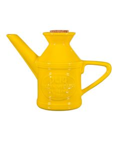 Look what I found on #zulily! Yellow Ceramic Olive Oil Can #zulilyfinds