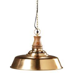 Hängeleuchte aus goldfarbenem Metall und Mangoholz D.42cm VERMONT Jetzt bestellen unter: https://moebel.ladendirekt.de/lampen/deckenleuchten/pendelleuchten/?uid=edd4c46f-b422-543a-a4e1-61417cc7fe12&utm_source=pinterest&utm_medium=pin&utm_campaign=boards #deckenleuchten #pendelleuchten #lampen