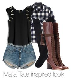 """Malia Tate"" by tynestar ❤ liked on Polyvore featuring J.Crew, Chloé, rag & bone and GUESS by Marciano"