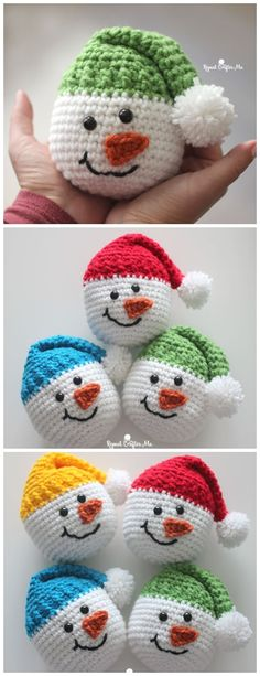 Crochet Snowman will appeal to both adults and children and will take pride of place under the Christmas tree. Christmas crochet is an exciting activity, It& time to create holiday home decor and unique gifts. Crochet Snowman, Crochet Christmas Ornaments, Holiday Crochet, Crochet Gifts, Crochet Toys, Crochet Baby, Christmas Tree, Christmas Gifts, All Free Crochet