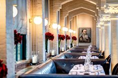 The first floor restaurant gives guests the chance to enjoy European dishes from German-born Executive Chef Bjoern Wassmuth and sip on Eastern European wines from a list curated by Head Sommelier Virgile Degrez, all while taking in the elaborate surroundings.