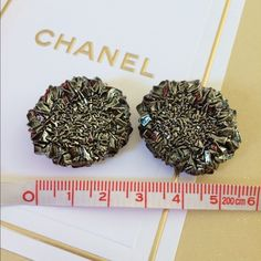 NEW Chanel 2 pieces extra buttons from my jack Here're the brand new 2 pieces guarantee 100%Authentic Chanel extra buttons from my Chanel jacket~You can easily sew this to your pocket or gloves,bags,etc....or DIY these to a Pin or ring or pair of earrings~All orders come with nice free gift from my closet~No trade please ~ CHANEL Accessories