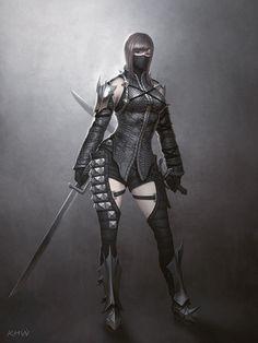 Female Vampire Art from Vindictus Fantasy Heroes, Fantasy Warrior, Fantasy Characters, Female Characters, Game Character Design, Character Concept, Character Art, Concept Art, Character Creation