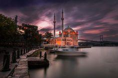 Ortaköy Mosque / İstanbul by Pınar Kamiloğlu - Photo 179584657 / 500px.   #sky #city #sea #beauty #sunset #street #water #travel #blue #night #sun #light #clouds #istanbul #turkey #architecture #summer #longexposure #mosque #fatih #i̇stanbul #türkiye #cami