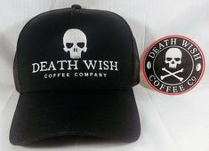 huge discount d6e6f 0f1bf DEATH WISH COFFEE LOGO SNAPBACK CAP HAT - NEW with Sticker  DEATHWISH  College Hats,
