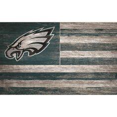 Philadelphia Eagles x Distressed Flag Sign Eagles Gear, Eagles Fans, Philadelphia Eagles Flag, Eagles Man Cave Ideas, Football Man Cave, Football Team, Nfl Flag, Distressed Walls, Flag Signs