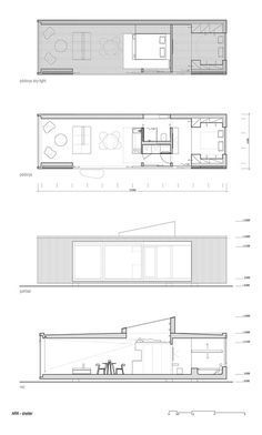 the Wild / Ark-shelter Lodge plans with textLodge plans with text Modern Tiny House, Tiny House Cabin, Tiny House Plans, Tiny House Design, Modular Cabins, Modular Homes, Little House Living, Beautiful Home Designs, Prefabricated Houses