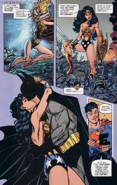 wonder woman and batman romance