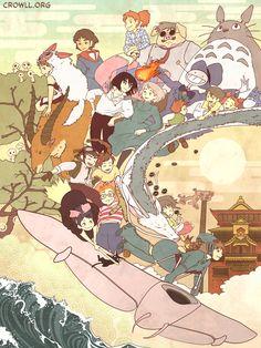 Miyazaki Compilation by meiwren.deviantart.com #fanart Studio Ghibli