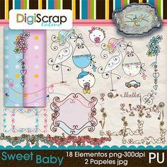 Elementos para una invitación de Baby Shower http://digi.scraplatino.com/index.php?main_page=index&manufacturers_id=14&zenid=onVCHJI9dLU8LJq0bNtHD3