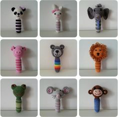 Dieren Rammelaar / Animal rattle by Ilse Naaijkens FREE crochet pattern (hva) Crochet Baby Toys, Crochet Diy, Crochet Amigurumi Free Patterns, Crochet Patterns Amigurumi, Crochet Gifts, Crochet For Kids, Crochet Dolls, Baby Knitting, Amigurumi Tutorial