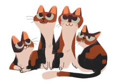 Calicos ~ Artist? ~ Daily Cat Drawings
