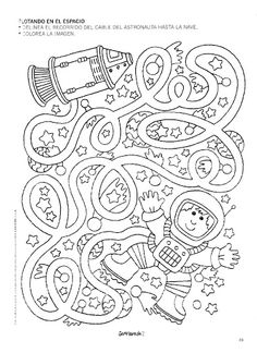 free astronaut maze worksheet 1 is part of Space preschool - Space Preschool, Preschool Activities, Space Activities For Kids, Vocabulary Activities, Kindergarten Worksheets, Worksheets For Kids, Printable Worksheets, Printable Mazes For Kids, Kids Mazes