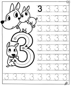 New System-Suitable Numbers Line Study - Preschool Children Akctivitiys Preschool Writing, Numbers Preschool, Free Preschool, Math Numbers, Preschool Printables, Preschool Lessons, Preschool Learning, Kindergarten Worksheets, Teaching
