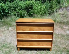 VINTAGE MID CENTURY DANISH MODERN MINIMALIST DRESSER CHEST of DRAWERS BUREAU 60s
