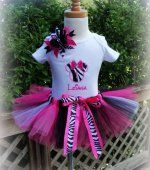 minnie mouse zebra printable party package | Personalized Hello Kitty Birthday Onesie or T-shirt. Boy, girl, 1st ...