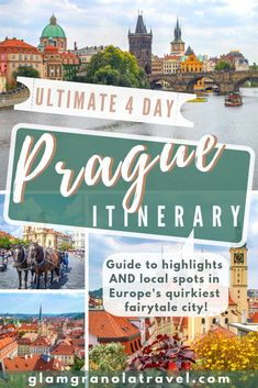 Let me help you plan a perfect Prague trip! Prague is a quirky fairtytale city, and this 4 day Prague itinerary will show you its highlights and local secrets alike. If you're wondering what to do in 4 days in Prague, wonder no longer. Europe Travel Guide, Travel Guides, Travel Destinations, Backpacking Europe, Travel Hacks, Holiday Destinations, Budget Travel, European Destination, European Travel