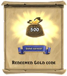 Free Hearthstone Gold Codes