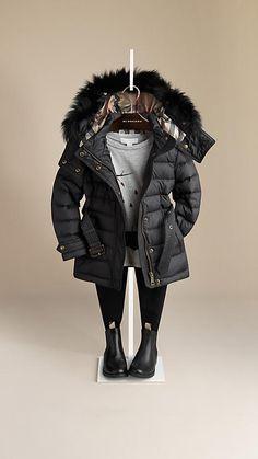 Fur Trim Puffer Jacket | Burberry