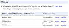 The test is limited to US-based affiliates for US-based merchants, who may submit feeds targeting the US audience only. According to Google Help pages, affiliates create a sub account in AdWords for each merchant they work with. Then they submit feeds for the products they wish to advertise, keeping the data as up-to-date as possible. To preserve the consumer experience, links must resolve directly and immediately to the landing page for the product on the merchant's web site.