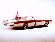 1960s Chrysler Sliding Door Concept Prototype by J. Samsen. How awesome is this, for the time.