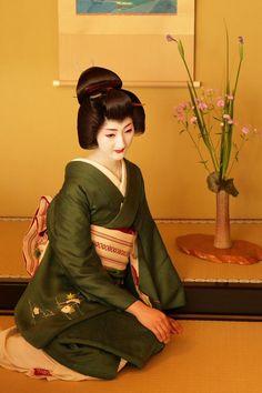 Oiran & Geisha   The jikata geiko Masaki of Gion Higashi. (Source)